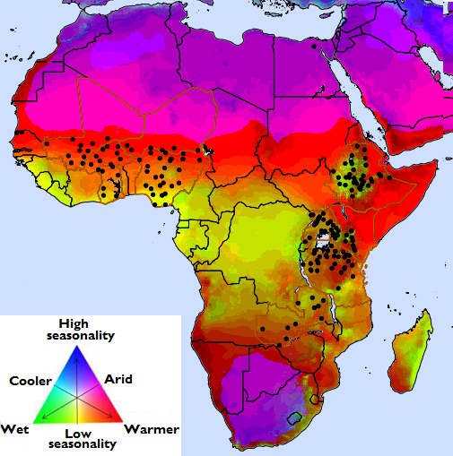 Map Of Africa Climate Zones.Climate Zones And Technology Extrapolation Domains Global Yield